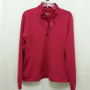 Sugoi long sleeve 1/4 zip race top raspberry sz XL